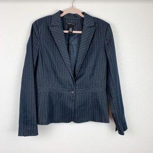 Kenneth Cole Vertical Stripe Navy Blazer Size 10